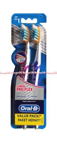 Sikat gigi Oral B Pro Health Clinical Pro-Flex Oral-B Ujung Lancip