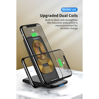 ROCK Dual coil Fast Wireless Charger 10W Fast charging Samsung Iphone