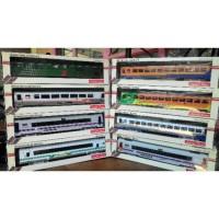 paket 6pcs gerbong miniatur kereta api indonesia.