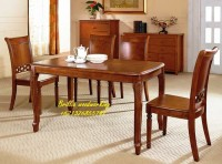 Meja makan jati perhutani murah dan ramah lingkungan di yogyakarta