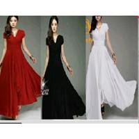 dress wrap kimono maxi swing longdress / fashion wanita korea bangkok