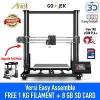 Anet A8 3D Printer Prusa i3 Autoleveling FREE FILAMENT DAN SD CARD