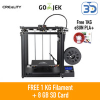 Creality Ender 5 Versi Terbaru 3D Printer V-Slot Dual Screw CoreXY