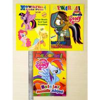 Buku Mewarnai, Belajar & Menulis Model Kuda Ponny (Ukuran 28cm X 21cm)