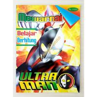 Buku Mewarnai Ultraman Mengenal Angka