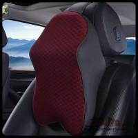 Bantal Leher Mobil Head Rest Memory Foam - Best Quality