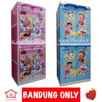 Lemari Plastik / Lemari Pakaian Naiba Minnie Mouse Dessy Duck Doraemon