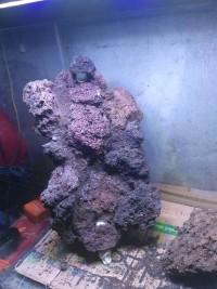 HEMAT Tebing air terjun pasir Batu Lava rock Aquascape