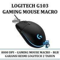 Logitech G103 Gaming Mouse Macro - Original Resmi