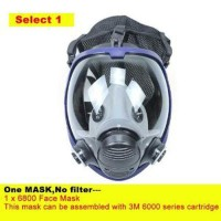 ZW Masker Gas Full Face Tanpa Filter - 6800 pasti murah