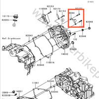 Holder Kabel Kopling dan Baut Kawasaki Ninja 250FI Original orii