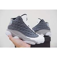 sepatu basket nike air jordan 13 atmosphere grey grade original murah