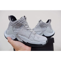 sepatu basket nike air jordan why not zero 2 wolf grey grade original
