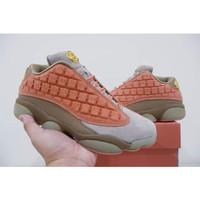 sepatu basket nike air jordan 13 low clot brown grade original murah