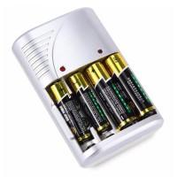 Charger Cas Baterai Batu Battery AA AAA LCD Dengan Indikator 4 Slot