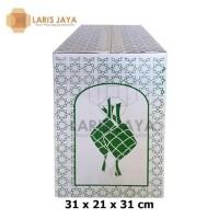 Termurah Kardus / Box Parcel Lebaran / Dus Idul Fitri Putih 31 X 21 X