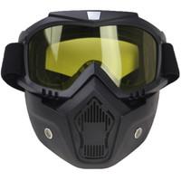 Kacamata Helm Goggle Masker Motor Set Paintball Airsoftgun Trail Cross
