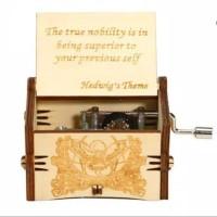 Kotak Musik Harry Potter Wooden Music Box