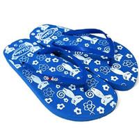 Sandal Flat/ Sandal Jepit / Sandal Wanita/Merry Cat / Biru