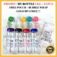 LIFEHACKS 14 1KG MY BOTTLE BPA FREE POUCH 500ML GARANSI BOTOL MINUM PL