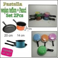 TEFLON + PANCI SPATULA (PASTELA) ANTI LENGKET 1 SET ISI 2 PCS