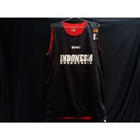 Atasan Jersey Basket Indonesia Hitam Merah