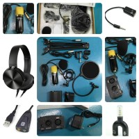 Paket Home Recording BM700, Stand, Filter, Phantom Power, Headphone