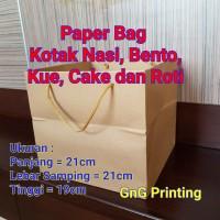 Paper Bag Box Kotak Nasi , Paper Bag Cake Kue Roti , Paper Bag Bento