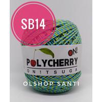 Benang Rajut POLYCHERRY SEMBUR Onitsuga - warna SB14