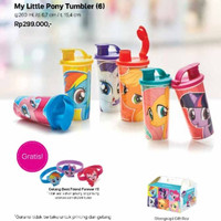 My Little Pony Tumbler Set (6) Botol Minum anak Tupperware