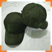 Topi velcro/perekat/tactical/molay hijau army,hitam,krem khaki,hijau