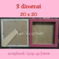 HG-frame foto bingkai foto 3 dimensi uk 20x20 scrap book pop up frame