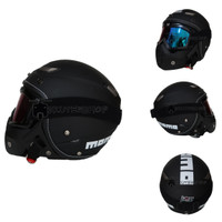 Helm Retro Pilot Klasik JPN MOMO Black Doff + OSBE Goggle Mask