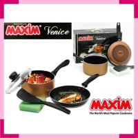 Panci Maxim Venice Set Peralatan Masak Frypan Spatula Sponge