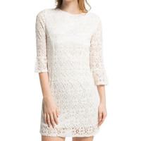 Come Lace Shift Dress Off-White 189