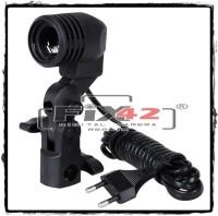 LIMITED EDITION Holder Lampu Studio Socket E27 dengan Dudukan Payung.