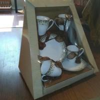 HOT SALE Parcel Mug set for 4 Tiles Brown 6 pc Parsel Lebaran-Keramik