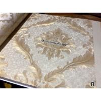 Terbaru Wallpaper Dinding Klasik Batik Gold Cream Mewah