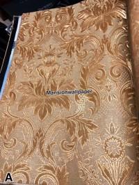 Terbaru Wallpaper Dinding Klasik Gold Bordir Mewah Elegan