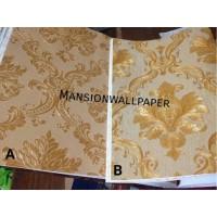 Terbaru Wallpaper Dinding Luxury Klasik Coklat Gold termurah