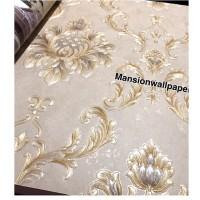 Terbaru Wallpaper Dinding Klasik Gold Emboss Mewah Premium Vinyl
