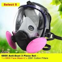 Masker Gas Full Face dengan Round Filter 601 - 6800