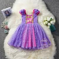 Princess Dress / Dress Tutu Anak / Birthday Party / Rapunzel Dress