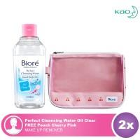 Biore Cleansing Water Oil Clear 300mL FREE Biore Cherry Pouch