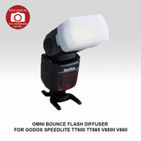 OMNI BOUNCE FLASH DIFFUSER FOR GODOX SPEEDLITE TT600 TT685 V850II V860