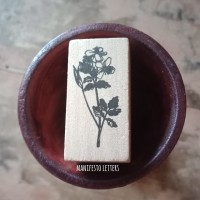 Wooden Stamp Tanaman Bunga Stempel Karet hias scrapbooking snailmail