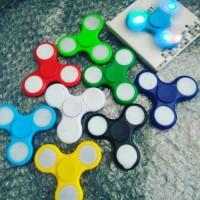Fidget Spinner Led Lampu/ Mainan Jari/ Putaran/ Stress Relief Toys