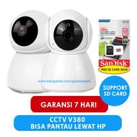 IP CAMERA CCTV V380 WIRELESS 720HD FREE SD CARD 32GB KAMERA PENGINTAI
