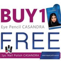 Casandra Pensil Alis 2 In 1 Dark Blue+Free Kutek