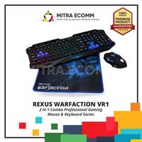 Keyboard & Mouse Set Gaming Rexus Warfaction Vr1 Free Mouse Pad